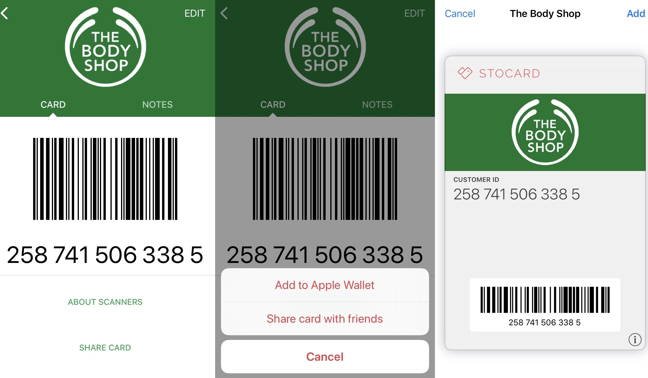 Can I add my cards in Stocard to Apple Wallet? – User Support